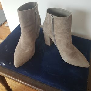 STEVEN by Steve Madden Taupe/Gray Suede Boots SZ 8
